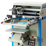 Semi-automatic flat bed and 3 dimensional screen printing machines